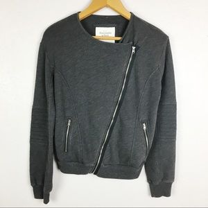 Abercrombie & Fitch Zip Up Moto Sweater